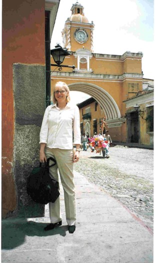 Susan in Antigua, Guatemala