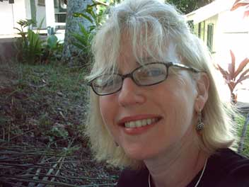 Susan Smith Nash at the University of the South Pacific Lodge, Suva, Fiji