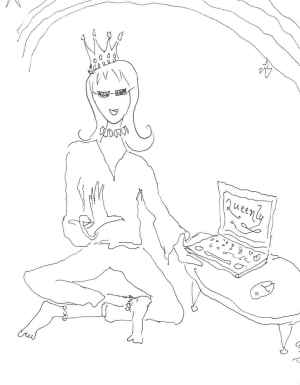 E-Learning Queen Being Queenly - sketch by susan smith nash